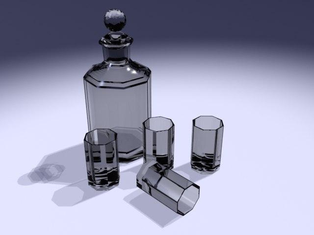 free ma model glass bottle