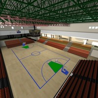 athletic court 3d model
