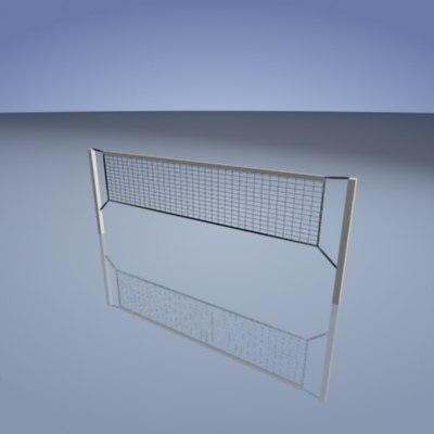 volleyball net 3d model