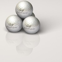 Golf Ball with Logo and tee