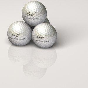 dimpled golf ball tee 3d model