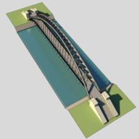 suspension bridge 3d model