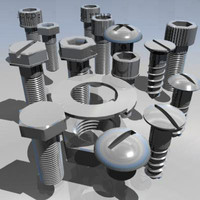 nut bolts 3d model