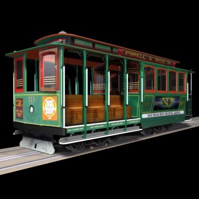cable car cablecar 3d model