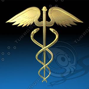 caduseus medical snakes 3d c4d