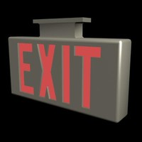 3ds max exit sign