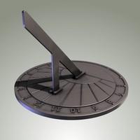 sundial sun 3d model