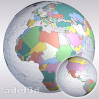 lands mapping earth 3d model