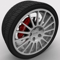 3d model wheel tire oz racing