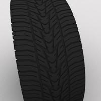 3d model wheel tire oz racing