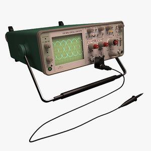 3d oscilloscope model