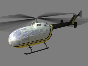 3d model bo105 helicopter