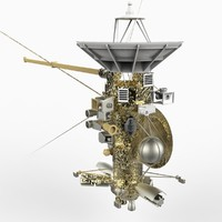 space spacecraft cassini huygens 3d model