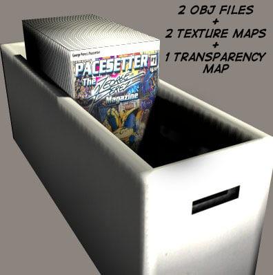 comic book box 3d obj