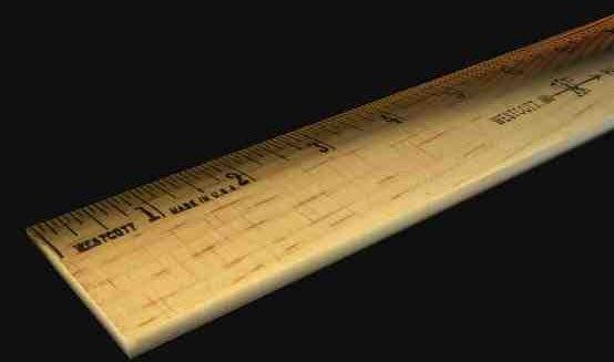 wood ruler 3d obj