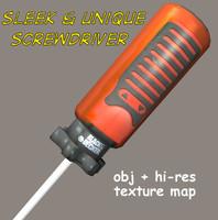 screwdriver hardware 3d obj