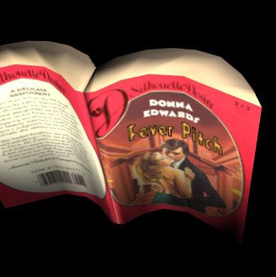 3d model open paperback