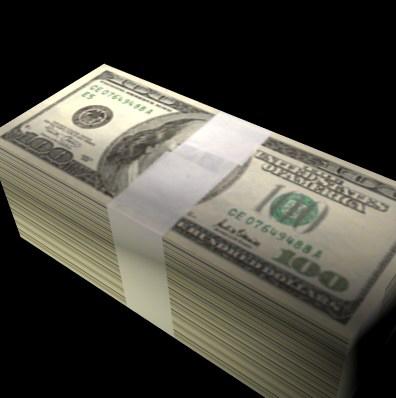 3d stack money cash
