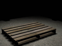 warehouses pallet 3d model
