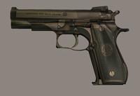 9mm beretta 3d model