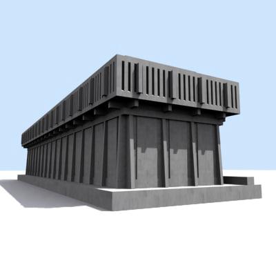3d albany building model