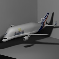 3d airbus a300-600st airplane