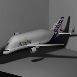 3d airbus a300-600st airplane