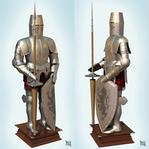 medieval german armour 3d model