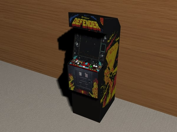 defender arcade machine 3d model