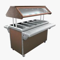 3d salad bar model