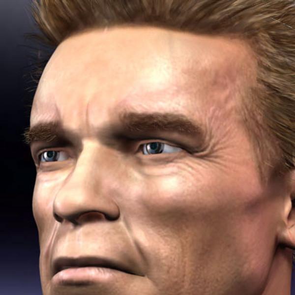 human head male 3d model