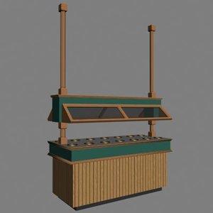 salad bar 3d model