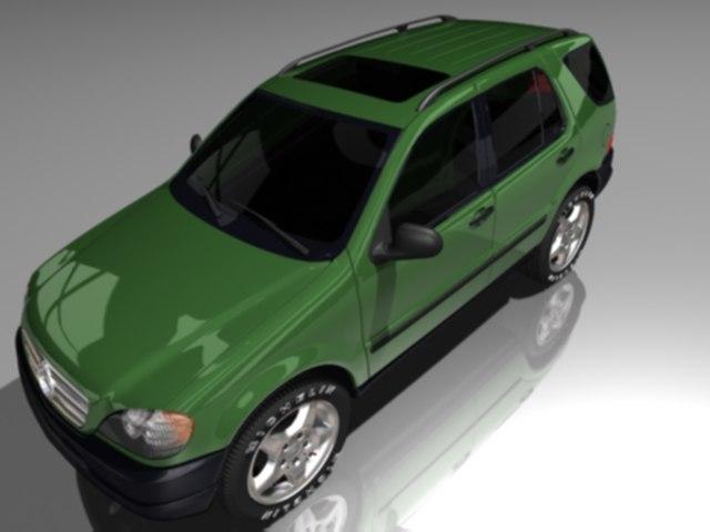 3d model mercedes ml350