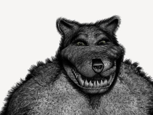 3d wolfman model