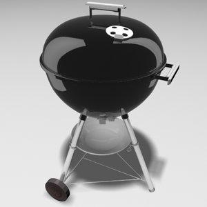 weber grill 3d max
