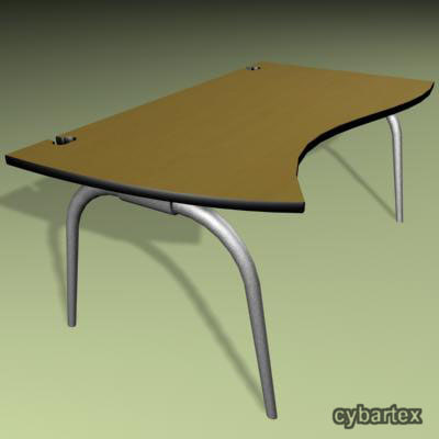 modern office desk 3d model