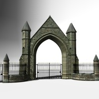 ornamental victorian gateway gates 3d 3ds