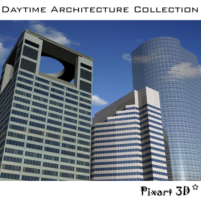 daytime architecture buildings 3d model