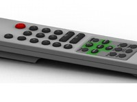 Highly detailed tv remote