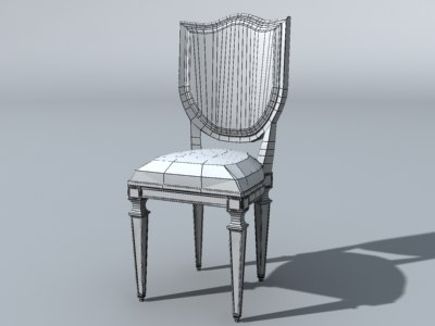3d model dining room chair