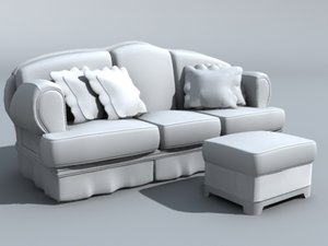 furniture couch obj