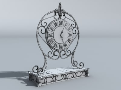 clock 3d obj