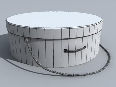 circle container 3d obj
