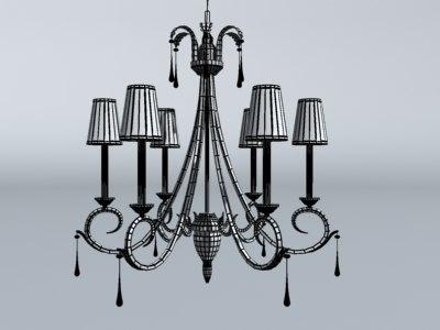 chandelier kitchen obj