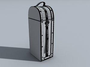 decorative box straps 3d obj