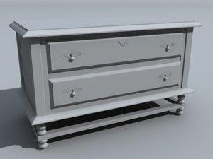 bedroom end table 3d model