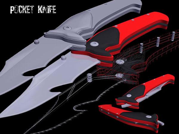 free pocket knife 3d model
