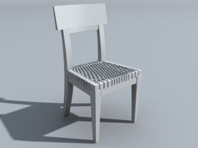 obj wicker chair