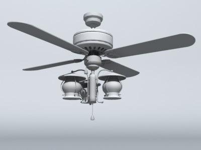 living room ceiling fan 3d obj