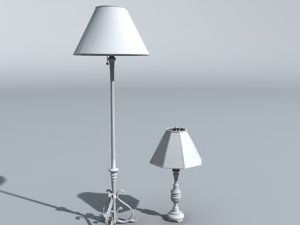 3d lamps furniture model